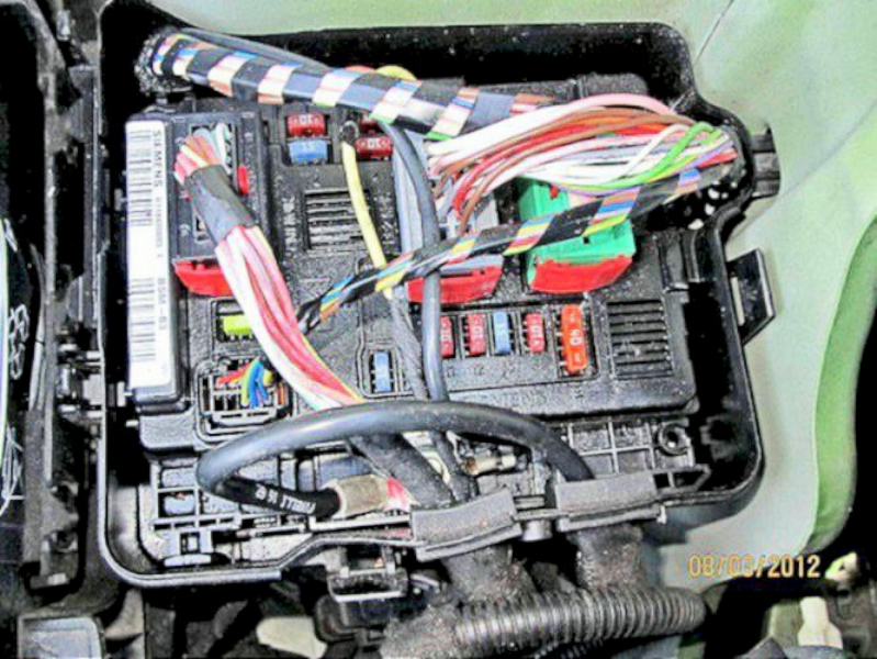 engine control unit location cruise control module