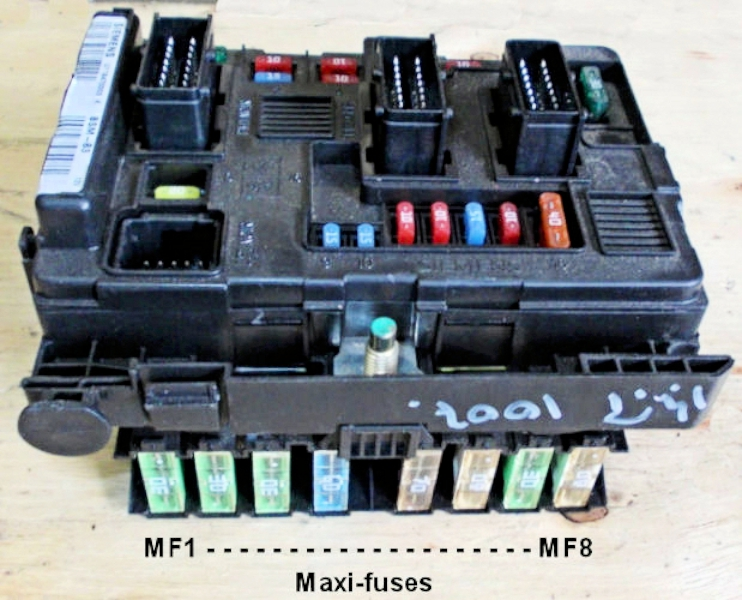 5maxifuses peugeot 1007; fuses; fusebox maxi fuse box at aneh.co