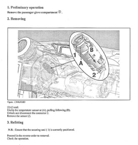 Peugeot 1007; Heater Fan Control