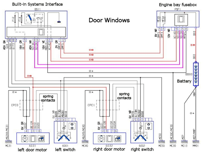 Peugeot 306 Door Wiring Diagram : Window motor wiring diagram impremedia