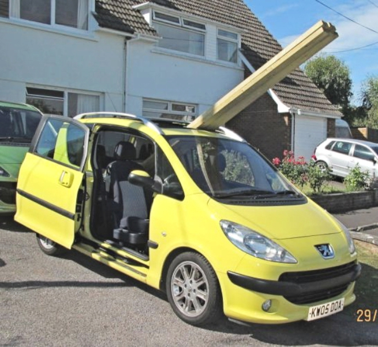 Peugeot 1007; sliding roof